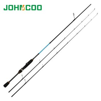 Johncoo UL/L Spinning Rod Solid tip 1.92m Fast Action Carbon rod K size ring net weight 105g for light Jigging Fishing rod 632UL