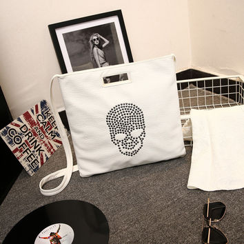 Star Vintage Skull Bags Tote Bag Shoulder Bags [6582270919]