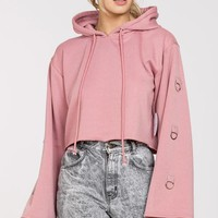 Dusty Rose Crop Pullover