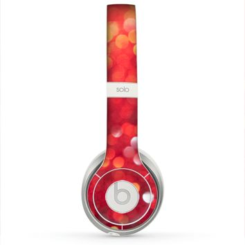 The Unfocused Red Showers Skin for the Beats by Dre Solo 2 Headphones