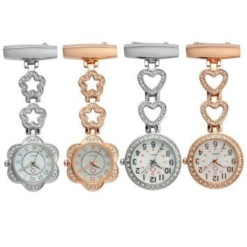 New Fashion stylish Pocket Clip-on Heart Pendant Watches