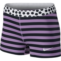Nike Women's Pro 3'' Stripe And Dot Compression Shorts | DICK'S Sporting Goods