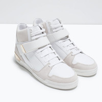 High tops with metallic detail