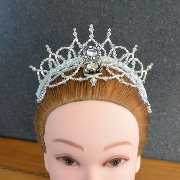 Professional Ballet Headpiece. Diamond.