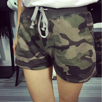High Quality Army Green Camouflage Short