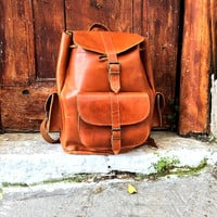 LEATHER BACKPACK - Women Backpack Purse from Full Grain Leather