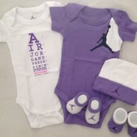 Nike Jordan Infant Baby Layette Set and Cellphone Anti-dust Plug