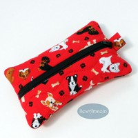 Dog Lovers Pocket Tissue Holder, Travel Tissue Case