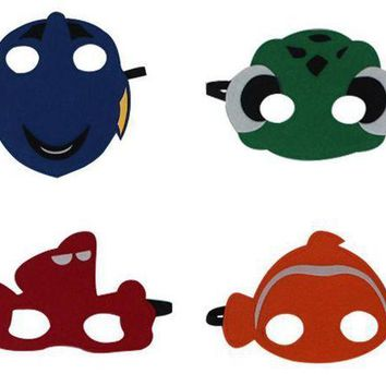 PEAPON Finding Dory Nemo Swim Mask Inspired Felt Cartoon Fish Felt Masks children kids Party Costume fancy dress Cos fish