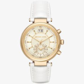 Sawyer Gold-Tone and Leather Watch | Michael Kors
