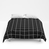 Black White Grid Comforters by Beautiful Homes