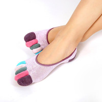 Non Slip Calcetines Ciclismo Fitness Women Ankle Socks Dance Exercise Five Fingers Socks