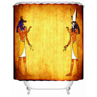 High Quality Shower Curtain Ancient Egyptian Style Picture Waterproof Shower Curtain Beautiful Furniture Component Fj066