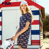 '' FILA '' Print Women Short Sleeve Dress