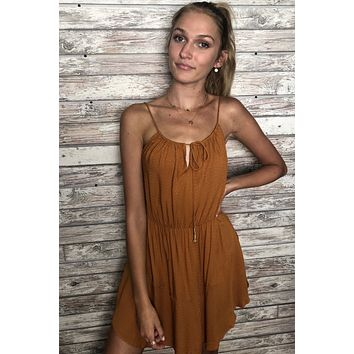 Free People Golden Hour Dress - Gold