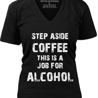 """Women's """"Step Aside Coffee"""" Tee by Fifty5 Clothing"""