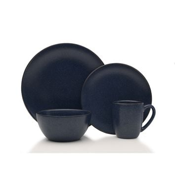Mikasa Gourmet Basics Juliana Blue 16-piece Dinnerware Set | Overstock.com Shopping - The Best Deals on Casual Dinnerware