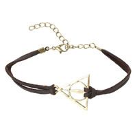 Harry Potter Deathly Hallows Cord Bracelet