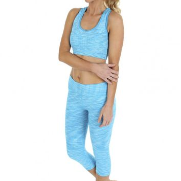 Abstract Workout Pants Aqua