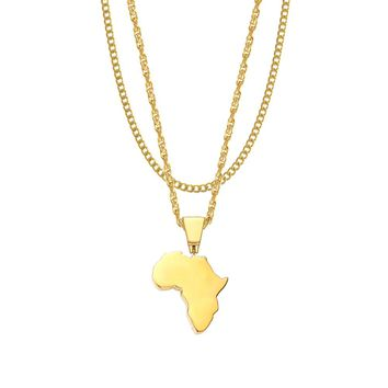 Mister Africa Necklace - Gold