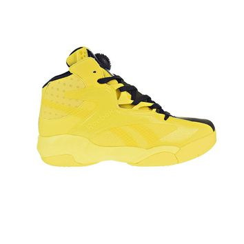 Reebok Shaq Attaq Modern Men s Basketball Shoes Yellow Spark Bla 55ef60ad94