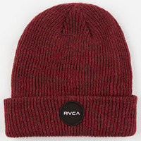 Rvca Motors Patch Beanie Burgundy One Size For Men 24561532001