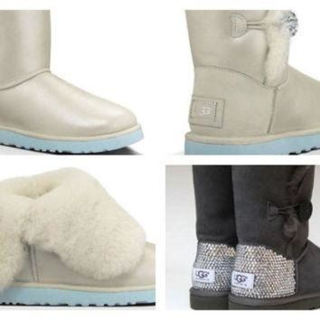 DCCK8X2 Custom UGG Boots made with Swarovski Bailey I Do Free: Shipping, Repair Kit, Cleaning