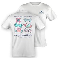 Simply Southern Preppy Collection Sea Life T-Shirt in White