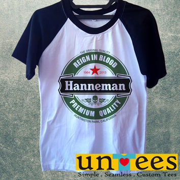Jeff Hanneman Logo Short Raglan Sleeves T-shirt