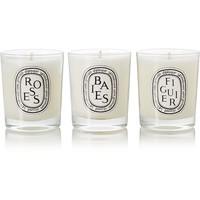Diptyque - Baies, Roses and Figuier set of three candles, 3 x 70g