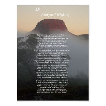 If - Rudyard Kipling Posters from Zazzle.com