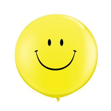 5PCS/Lot 25G Yellow Smile Balloons Large Latex Balloon Children Happy Birthday Big Balloons Party Decora Classic Giant Design