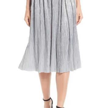 Vince Camuto Pleat Foiled Knit Skirt | Nordstrom