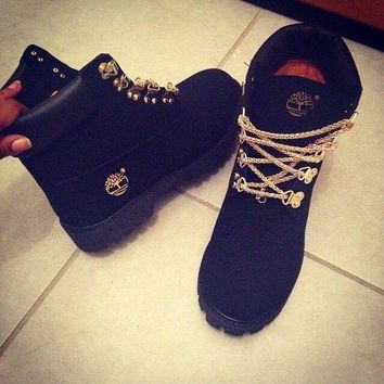 ONETOW Winter Gold Chain Boots