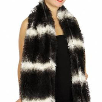 Thick Luxurious Faux Fur Ombre Scarf in 4 Colors