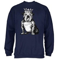 English Bulldog Crown Mens Sweatshirt