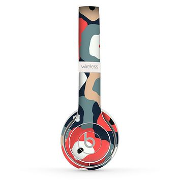 The Bulky Colorful Flowers Skin Set for the Beats by Dre Solo 2 Wireless Headphones