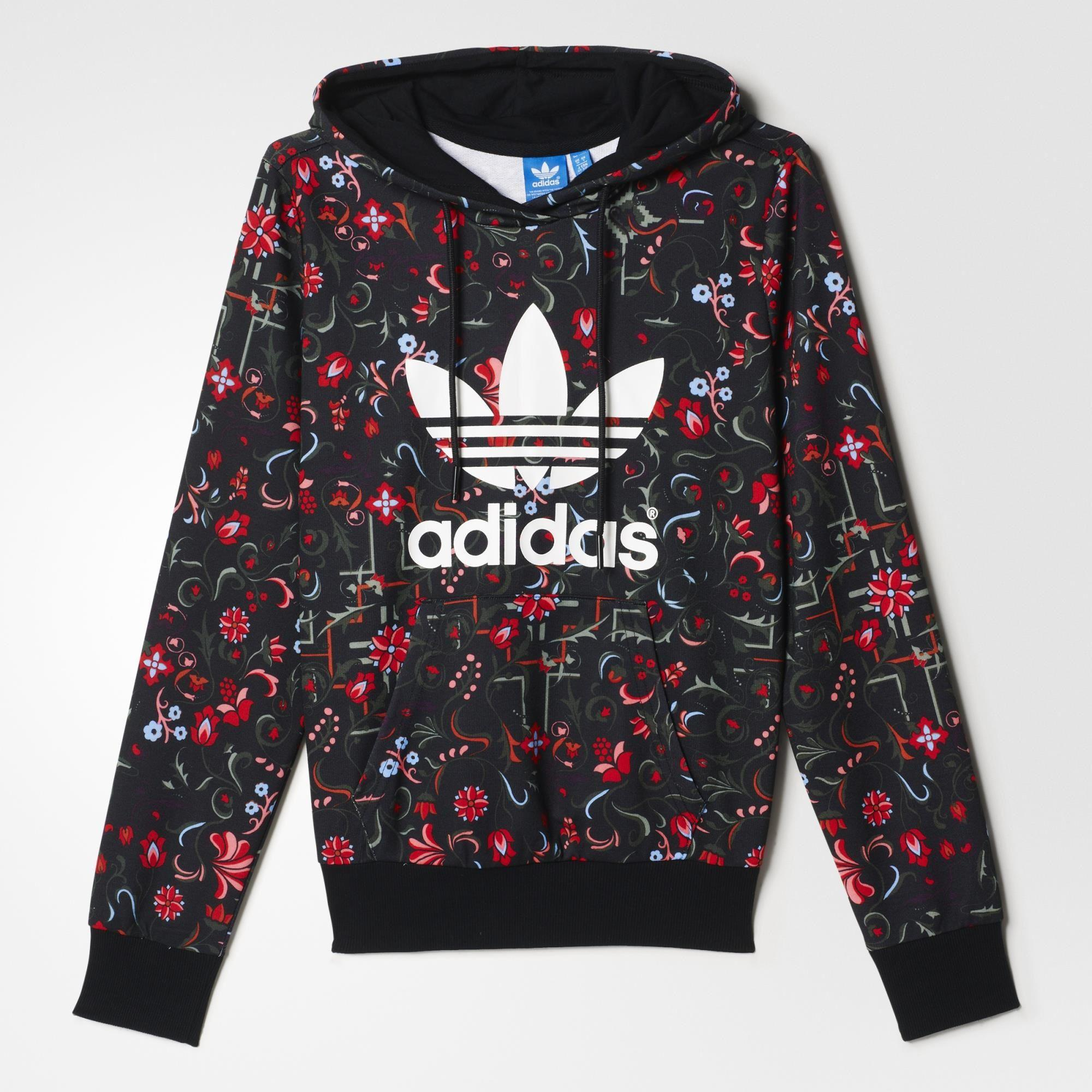 adidas Floral Allover Print Trefoil from adidas