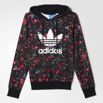 adidas Floral Allover Print Trefoil Hoodie - Multicolor | adidas US