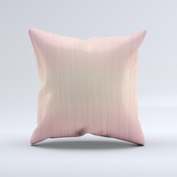 Rose Gold Brushed Surface  Ink-Fuzed Decorative Throw Pillow