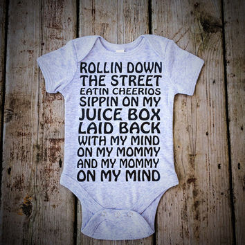 Baby Boy or Baby Girl Gift - Infant Bodysuit Onesuit - Cheerios & Juice Box - Snoop Dogg Inspired - Baby Shower Gift - Funny Baby Onesuit