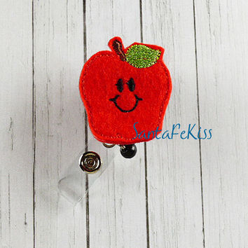 Teachers Badge Reel, Felt Badge Reel, ID Badge Reel Holder, Name Badge Holder, Lanyard, Teachers Badge Holder Reel