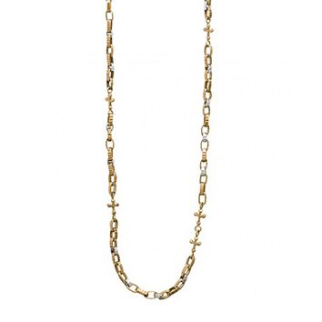 Waxing Poetic Freedom Cross Brass Chain Necklace