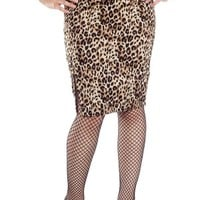 Shot Through The Heart Leopard Skirt