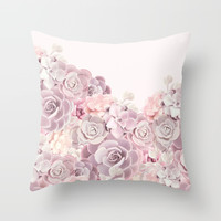For the girl Throw Pillow by printapix