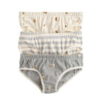 Girls' Underwear Three-Pack In Stripe Heart : Girls' Tees | J.Crew