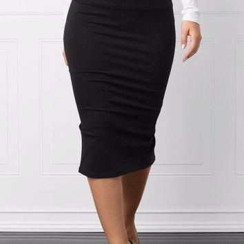 Tabatha Pencil Skirt Black