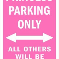 Princess Parking Only Tin Sign at AllPosters.com