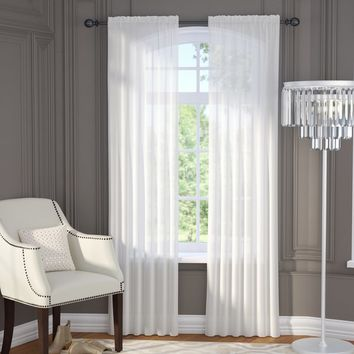 Brushgrove Solid Sheer Curtain Panels
