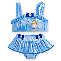 Cinderella Deluxe Swimsuit for Girls - 2-Piece